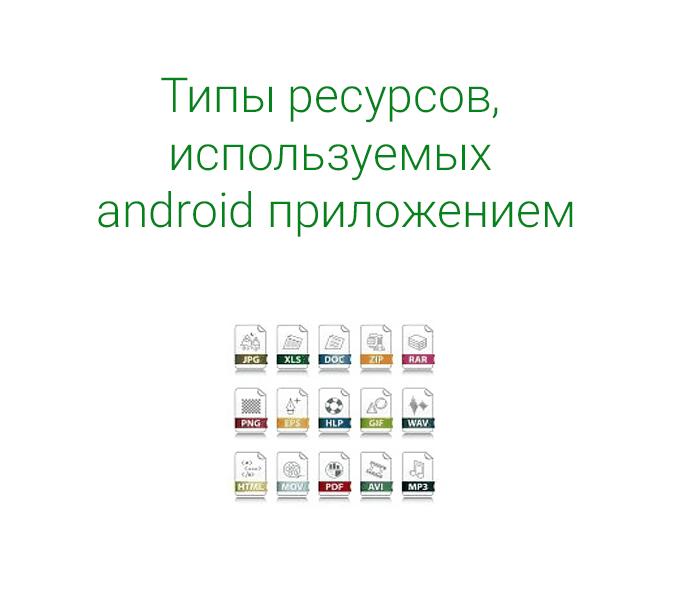 Каждый из документов в этом разделе описывают использование, формат и синтаксис для определенного типа из ресурсов android приложения, которое вы можете установить в папку ресурсов вашего проекта в Android Studio (res/).