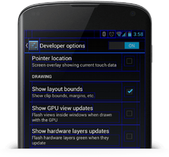 При разработке мобильного приложения для android, важно тестировать приложение на реальном устройстве, прежде чем предоставлять его пользователям. В этом разделе описывается, как настроить среду разработки и систему Android  для тестирования и отладки приложений на устройстве.