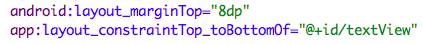 ограничивает верхнюю часть кнопки до нижней части TextVi
