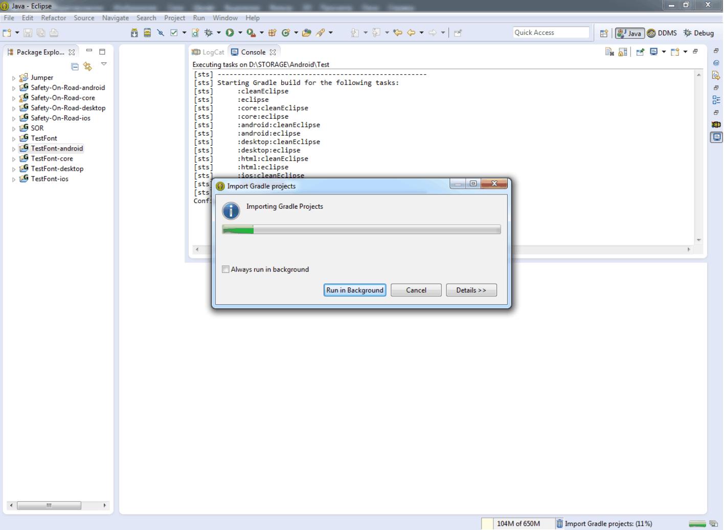 Как создать проект в LibGDX после перехода на Gradle? — Fandroid info