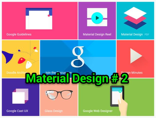Material Theme, Material Design